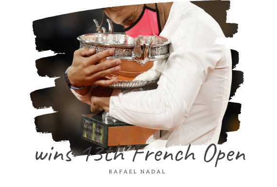Rafel Nadal wins 13th french open