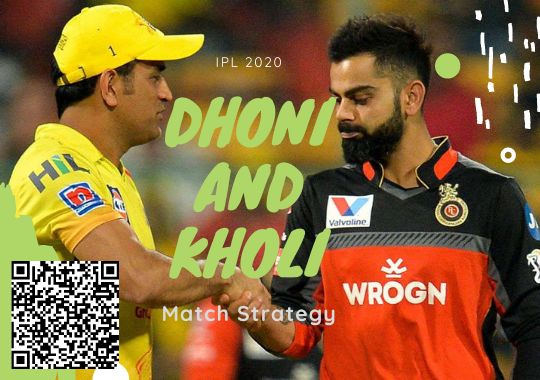 Dhoni and Kholi Match Strategy in IPL 2020