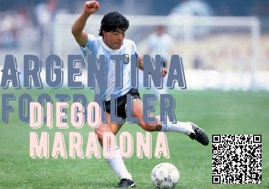 Arzentina footballer Diego Maradona