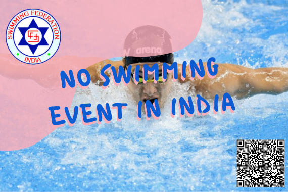 no swimming events in india swimming federation of india