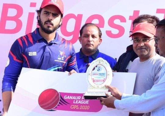 delhi-cricketers-defeated-bal-bhavan-by-six-wickets-and-entered-in-semi-finals-of-ganaur-premier-league-cricket-tournament