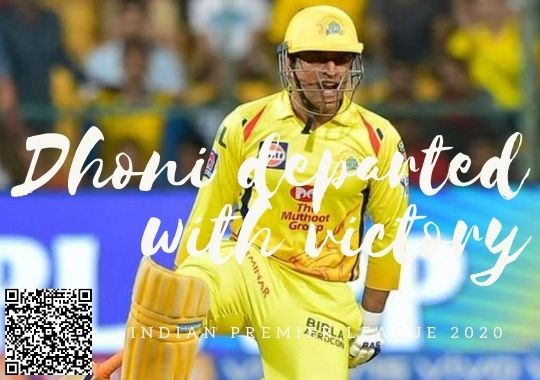 MS Dhoni victory in IPL 2020 last match