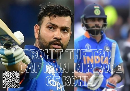 Rohit Sharma replace Virath Kholi In T20 as a caption