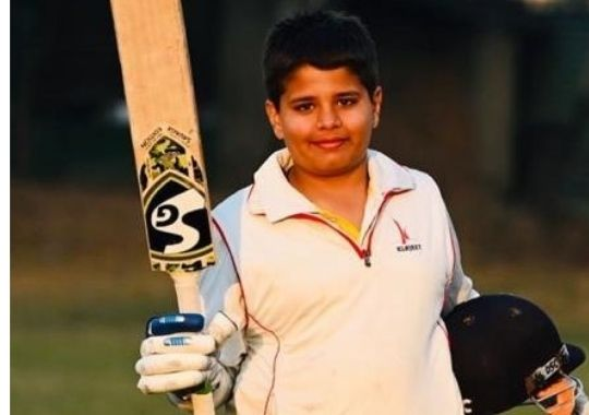 10-year-old Rihan's stormy double century in Under-13 Invitation Cricket Tournament