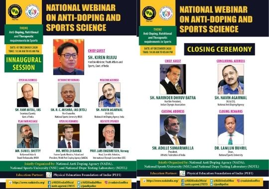National webinar on anti-doping and sports science today