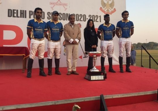 Rajinigandha Achievers, the Polo Team of the DS Group, defeated the Achievers ONN 8-3 in the Baroda Cup