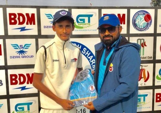 Sporting club won by Badal and Karthik's superb bowling