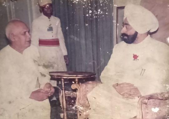 Guru Hanuman with Inder Singh Gujral